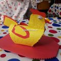 Chicken handicraft ideas for kindergarten
