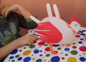 chicken craft idea for kindergarten