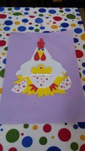 chicken crafts idea for kid
