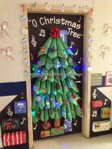 door christmas tree crafts