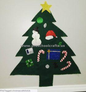 easy christmas tree for preschool