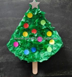 easy paper plate christmas tree for kids