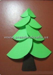 folding paper christmas tree crafts