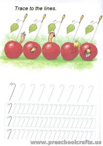 free lines tracing exercises for kids