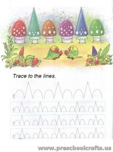 free trace line worksheets for preschool