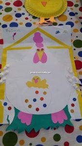 kindergarten related to chicken craft idea