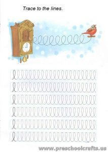 lines tracing exercises for preschoolers