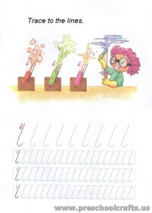 lines tracing worksheets for kids