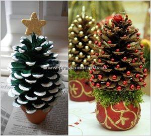 Pine Cone Christmas Tree Ornaments Christmas