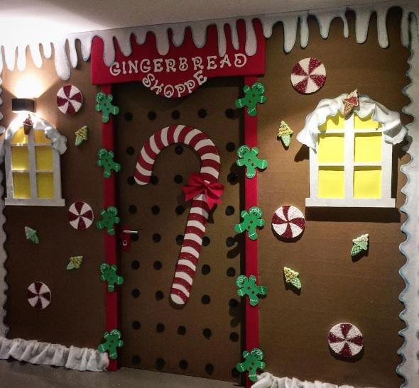Preschool Christmas Classroom Decorations ~ Christmas door decoration for preschool diepedia