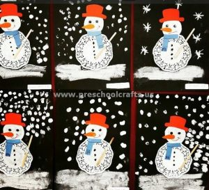 snowman-craft-ideas-from-paper-plate