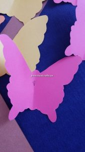 Make butterfly with colored paper