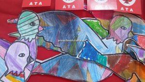 bird crafts idea for kindergarten