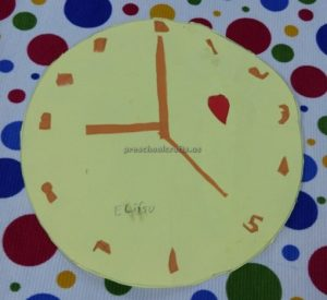 clock craft for firstgrade