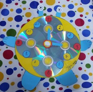 clock craft for kindergarten