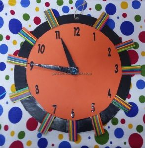clock craft for preschool