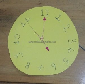clock craft for toddler