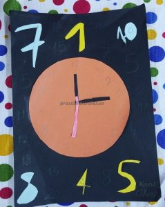 clock craft idea for preschool
