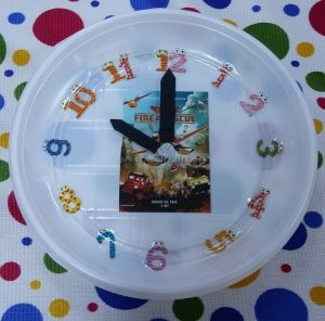 paper plate clock theme craft for firstgrade