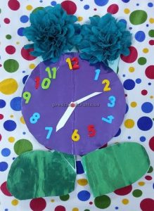 clock theme craft for kids