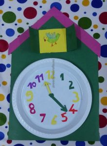 clock theme craft for preschool