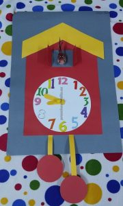 clock theme crafts for preschool