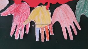 colored hand craft for preschool