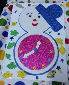 craft ideas related to clock for kids