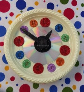 craft ideas related to clock theme for kindergarten