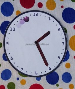 craft ideas related to clock theme for preschool