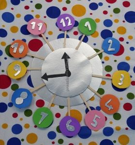 craft ideas related to clock theme for toddler