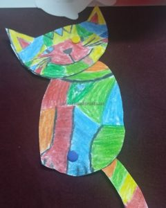 craft ideas to cat template for preschool
