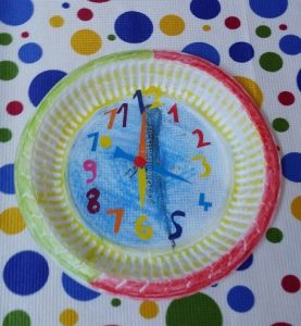 craft related to clock for preschool kids