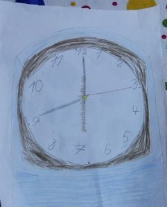 craft related to clock for toddler