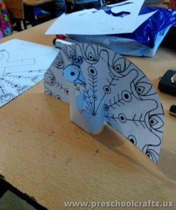 cut-and-folding-paper-peacock