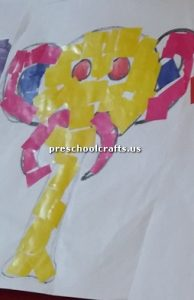 elephant craft board for kids