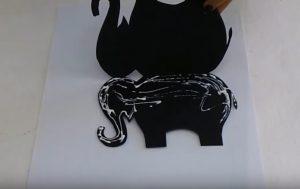 elephant craft making for kindergarten