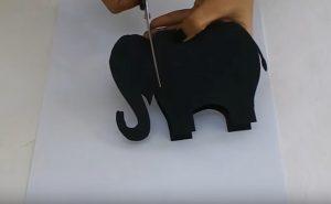 elephant craft making for preschool teacher