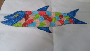 fish theme craft for kindergarten