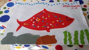 fish theme craft for toddler