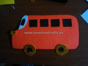 fun bus craft idea for kids