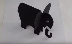 how to make elephant craft for preschool