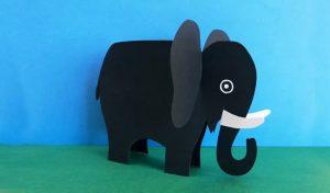 how to make elephant craft for preschooler