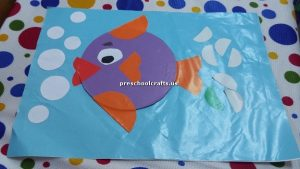 kindergarten craft idea for fish