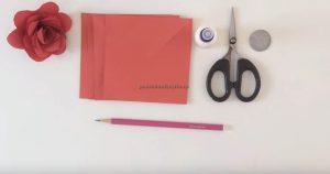 necessary materials for rose craft