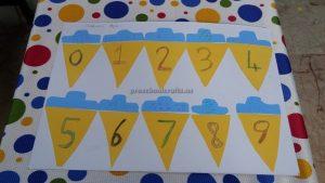 number craft for kindergarten