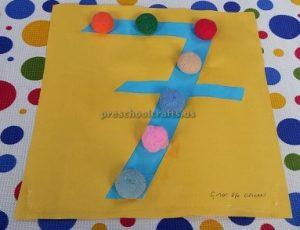 number craft theme for kindergarten