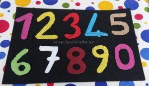 number crafts for kindergarten