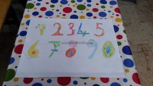number theme craft theme for kindergarten