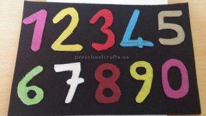 numbers craft for preschool